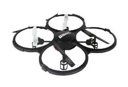 Promotion drones de caméras aériennes Gros-U818A Hélicoptère RC avec Caméra Quadcopter 2.0MP caméra photographie aérienne Drones 2.4G GYRO HD UAV Camera 1set / lot