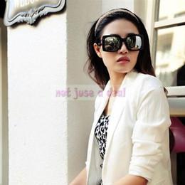 Wholesale-Women Girl Summer Big Frame Sunglasses Spectacles Eyeglasses Mirror Frame Lens