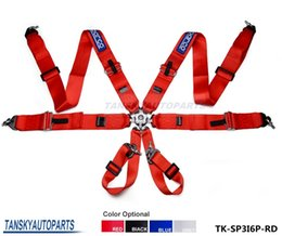 Wholesale TANSKY SP Performance quot Point Camlock JDM Racing Seat Belts Safety Harness Black Blue Red Gray TK AQD044SP6