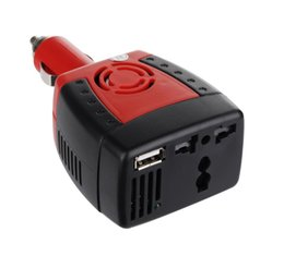 Wholesale 150W Car Power Inverter Charger Adapter V DC to AC V Converter With V USB Charger for mobile Phone laptop adapter air book