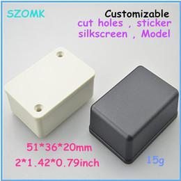 szomk small enclosure abs project case (20 pcs) 51*36*20mm diy box small plastic box industrial enclosure