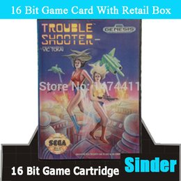 Wholesale-Trouble Shooter US Game Cartridge 16 bit MD Game Card For Sega Megadrive