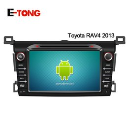 Wholesale 8 inch Android Car DVD Player GPS Navigation auto radio Din Black Car PC Video Multi Language For Toyota Rav4