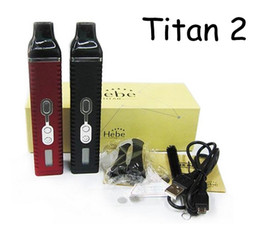 Wholesale New Titan Vaporizer kit Hebe Dry herb E cigarette Burn dry herbs Vaporizer pen with mAh Battery Lcd display VS snoop dogg g pro vapor