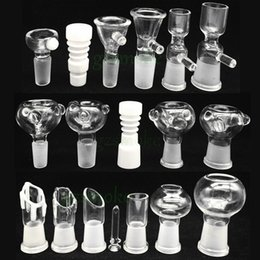 Wholesale Male and Female smoking accessory bowl piece for gongs mm mm glass water pipes Assorted Bowl slide With Handle Water Smoking Pipe bong