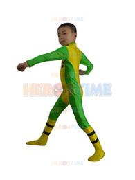 Kids X-men Costume Child Rogue Superhero cosplay party costume free shipping