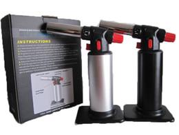 Jet Flame Torch Soldadura de hierro Gas Butano Encendedor 1300 ° c Chef Blowtorch Jet Flame Torch Cocina Cocina Soldadura Brazing butano antorcha desde de gas de soldadura de hierro fabricantes