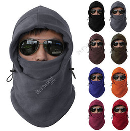 Wholesale Hot Sales Fleece Thermal Balaclava Ski Snowboard Motorbike Biker Gear Masks Face Hood Hats Cycling Caps Fx245