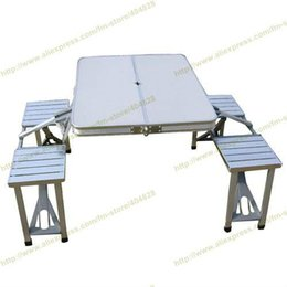 Wholesale ALL IN ONE Aluminium Alloy Portable Folding Outdoor Picnic Table With seats