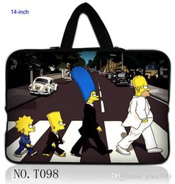 Wholesale 14 quot The Simpson Laptop Sleeve Case Bag Cover Pouch For Sony VAIO CW CS HP Dell Acer PC