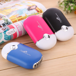 Wholesale MINI Color Air Conditioning Fans Portable USB Chargeble Air Cleaning Cooling Appliances Cute Air Conditioner Summer Student Hand Fans SK594