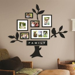Wholesale Art Frames Wall Mounted Family Tree Photo Wall Mounted Frames for Home Decoration Boxes CM