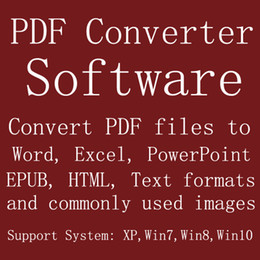 Wholesale Software Convert PDF files to Word Excel PowerPoint EPUB HTML Text formats commonly used images English Language Version