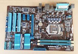 Wholesale P8H61 Desktop Moherboard for ASUS Desktop Micro ATX H61 Socket LGA Motheroboards Placa base With Rear Panel