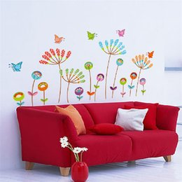 ShineLi New 2014 Flower Butterfly Removable Vinyl Decal Art Mural Home Decor Wall Sticker Wholesales