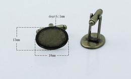 13X18mm DIY buttons Cufflinks accessories french cufflink t shirt clothiing cufflinks Button support spot wholesale jewelry accessories