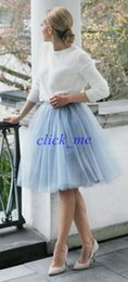 Tiered Formal Tulle Knee Length Skirts Women And Young Laides Dress Soft Gauze Cute Bouffant Skirt Princess Cheap Bust Skirts