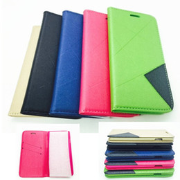 For iphone 6 Plus Ultra Thin PU Leather Wallet Credit Card Holder Stand Diamond Magnetic Double Color leather Case Cover for iphone 5s