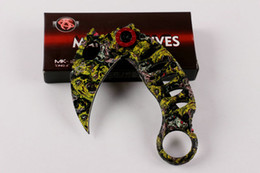 New Shootey camouflage karambit knives, X51 folding claw knife,5CR13MOV steel Blade 57HRC, outdoor gear camping survival knife free shipping