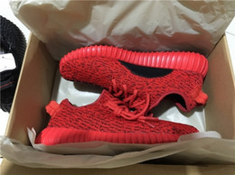Wholesale double box Best Quality Full Red boost Kanye West Shoes Fashion Man Woman Sneakers Training Shoes US5 US11