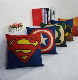 Wholesale Superhero Avengers cushion case superman Captain America Printed Cushion Cases luxury Pillow Cover Home Textiles coffee house Décor gift