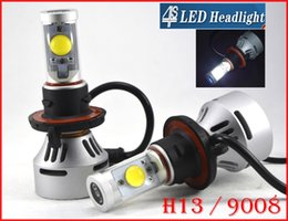 2017 double t5 1 Set H13 9008 du système de phare 72W 7000LM LED CREE Auto Kit Hi / Low double 4S faisceau UPGRADED MTG2 CHIP Xenon Blanc 12 / 24V 5 Couleur modifiable double t5 offres