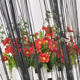 Wholesale High Quality Tassel Fringe Hanging String Partition Divider Modern Curtain Window And Door Curtain Curtain Magnet Black Color