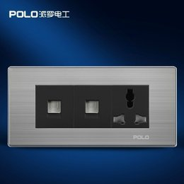 Wholesale POLO luxury wall socket panel V hole computer Multifunction socket power electrical outlet Wholesaler