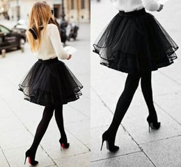 2015 Custom Made Black Short Skirt for Women Organza Sexy Piping Flouncing Ruffles Casual Dresses Multiple Layers Classic Puffy Women Skirt