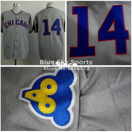Wholesale 30 Teams Chicago Cubs Jersey Ernie Banks Hemp Grey Throwback Shirt Stitched Authentic Retor Baseball Jersey