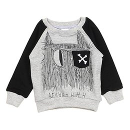Wholesale New Arrivals Unisex Children s Kids Pullover Clothing T shirts Raglan Sleeves Cotton Abstract Patterns Spring Autumn KA340 Free Shippin