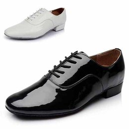 Wholesale High quality PU colors Black White Latin dance shoes for men Salsa Ballroom shoes zapatos de baile latino WZSP703 free shippin