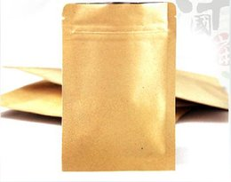 Latas de papel en venta-50g / 1.76oz Bolsas de café de la cremallera de papel de Kraft con el plano de la válvula sin la posición (1pack 100pcs), puede insignia impresa de encargo