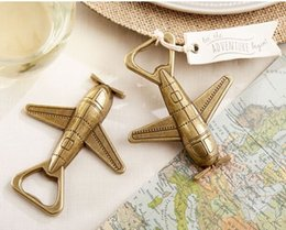 Wholesale quot Let the Adventure Begin quot Airplane Bottle Opener wedding favors party gift giveaway centerpiece supplies baby shower