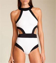 Summer New Sexy Ladies Bodysuit Beach One Pieces Bikini Padded Monokini Swimsuit Swimwear White Green Black Hot Pink Free Shipping