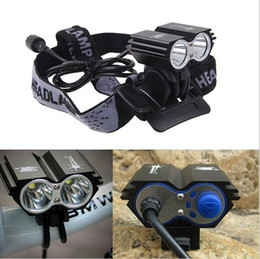 Wholesale 5000 Lumens x CREE XML U2 LED Cycling Bike Lamp Bicycle Light Headlamp HeadLight Accessories Adjustable Headband