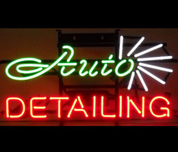 Wholesale Neonetics Auto Detailing Neon Sign Vehicle Cars S Store Repair Parts Advertising Sign Real Class Neon Nikke Air Jorddan light Sign quot X14 quot