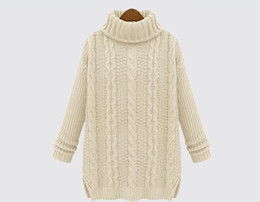 Wholesale Want Wool Knitted Women Sweaters And Pullovers Hot Oversized Cashmere Sweater Women Winter Christmas Jumpers Turtleneck JIA770