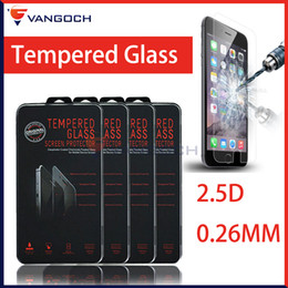 2.5D Tempered Glass For iphone 6 iphone 6S iphone 5s Plus 5S Galaxy S7 S6 Screen Protector 0.26mm Explosion Proof Film