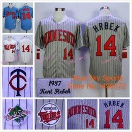 Wholesale Kent Hrbek Jersey Minnesota Twins Throwback Jersey Kent Hrbek White Gray Strips Throwback Baseball Jersey