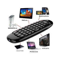 Wholesale Multifunction Remote Controller Air Mouse Android Remote Keyboard Fly Air Mouse G Axis Wireless USB Receiver Air Mouse Keyboard K002
