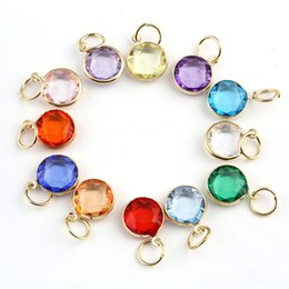Wholesale 24pcs Mix Colors Birthstone Crystal dangles of Months Birthstone for Alex and Ani Charm Wiring Bracelet expandable bangles