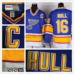 Wholesale Factory Outlet St Louis Blues Jerseys Brett Hull Hockey Jersey Blues Throwback Baby Blue Vintage CCM Brett Hull Jerseys With Stitch C P