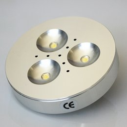 Wholesale Latest Price Promption CREE W Dimmable Warm Pure Cold White AC110V AC220V AC230V LED Puck Light for cabinet or display box