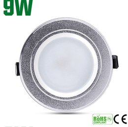 Retail 9W High power Dimmable Led ceiling lamp 600lm Led Bulb 110-240V LED lighting led lights spotlight downlight with drive+free shipping