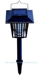 Wholesale Solar Mosquito Pest Insect Bug Killer Zapper Light Lamp Freeshipping