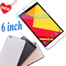 Wholesale 6 Inch MTK6580 Qual Core MB GB Android Cell Phone Dual SIM G WCDMA Unlocked Phablet Big Screen SmartPhone mAh Battery M8