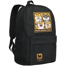 Wholesale Anime Doge Kabosu Double shoulder pack Atsuko Sato School bag Oxford Bag Unisex KABOSU Laptop bag Backpack