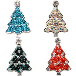 Wholesale D02602 Hot Snap buttons Jewelry fit Bracelet Bangles Antique Fashion DIY Charms Crystal Christmas Bell Design noosa chunk