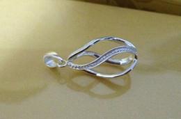 Solid 925 Silver Tear-Drop Twisted Pendentif Cage Lockets, peut ouvrir pendentif, Wish Pearl Pendentif Montage / Montage- Twisted DIY Charms à partir de perle solide fabricateur